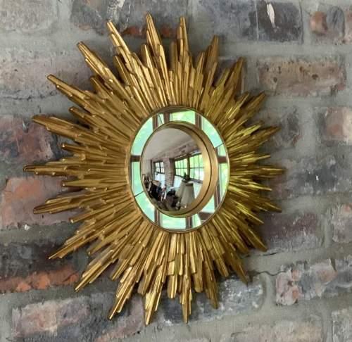 Superb French Belgian Sunburst Mirror with Multiple Bursts image-4