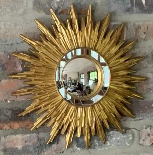 Superb French Belgian Sunburst Mirror with Multiple Bursts image-5