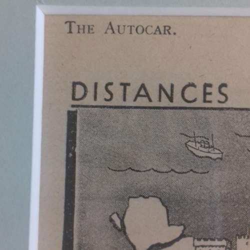 Framed Original 1937 Autocar Advert For Aston Martin image-4