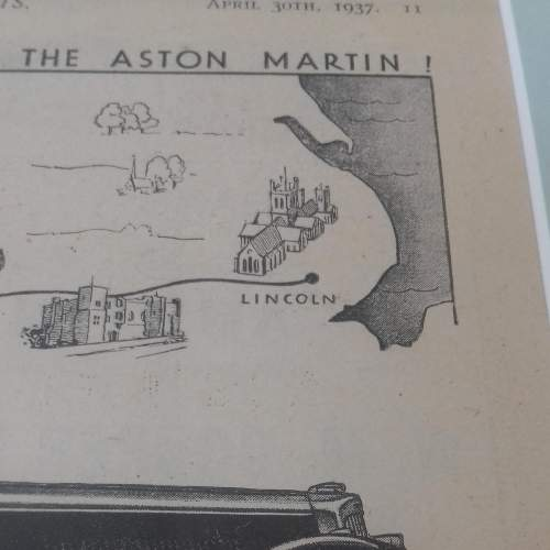 Framed Original 1937 Autocar Advert For Aston Martin image-5