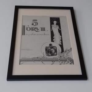 Framed Original 1926 Advert For 5 Forvil Perfume