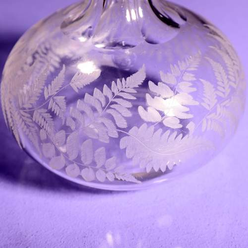 Victorian Fern Etched Glass Port Decanter image-2