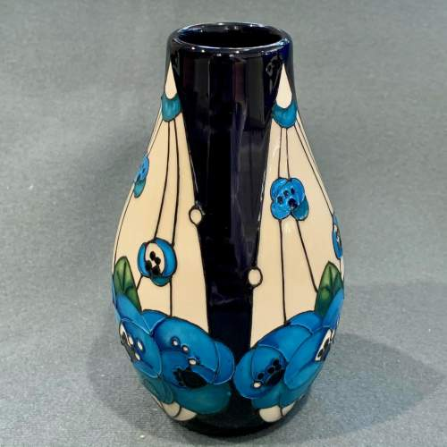 Moorcroft Rennie Rose Blue Vase image-2