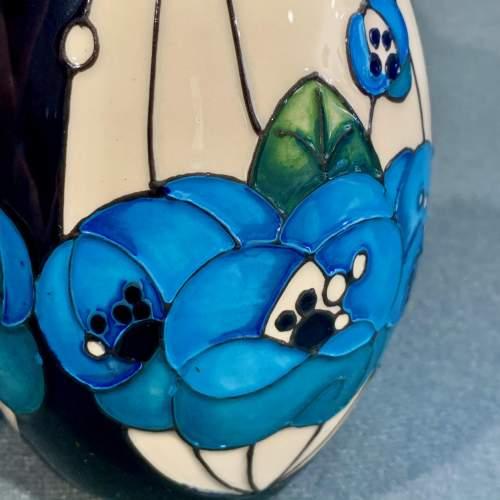 Moorcroft Rennie Rose Blue Vase image-3