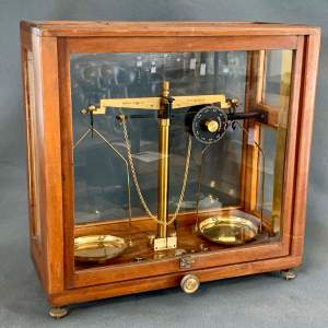 Griffin and Tatlock Glass Cased Apothecary Scales