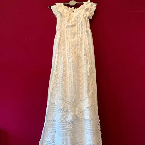 Circa 1900 Broderie Anglaise Christening Gown image-1