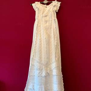 Circa 1900 Broderie Anglaise Christening Gown