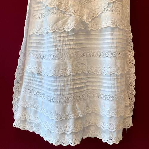 Circa 1900 Broderie Anglaise Christening Gown image-3
