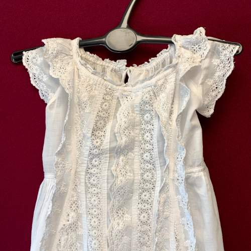 Circa 1900 Broderie Anglaise Christening Gown image-2
