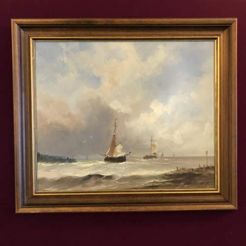 Barges Returning Oil Painting image-1