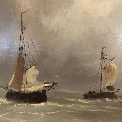 Barges Returning Oil Painting image-2