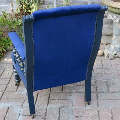 Edwardian Button Back Library Style Arm Chair image-3