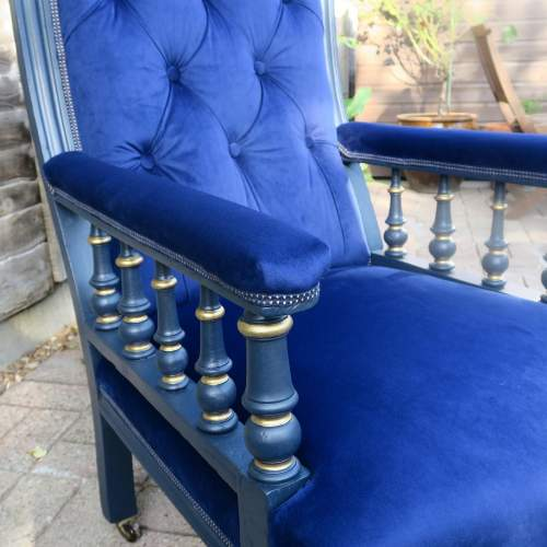 Edwardian Button Back Library Style Arm Chair image-4