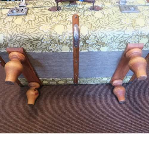 1920s Repurposed Steamer Travel Trunk William Morris Coffee Table image-6