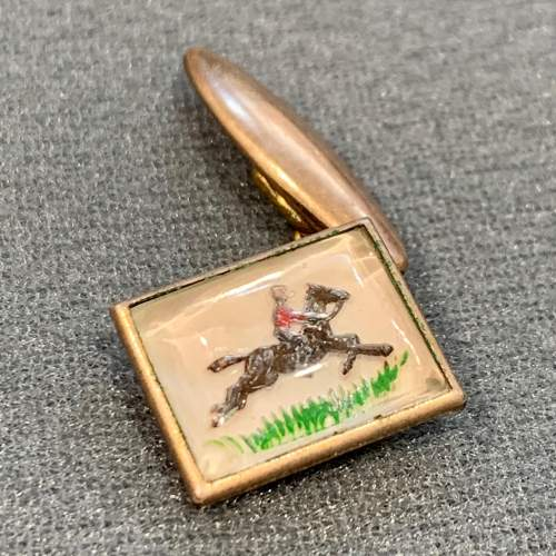 Vintage Essex Crystal Horse Riding Cufflinks image-2