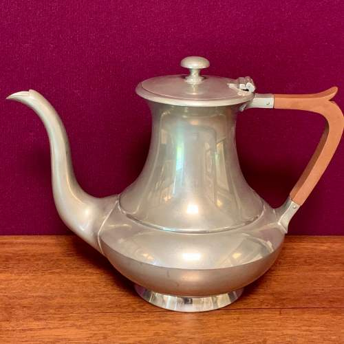 19th Century James Dixon and Son Pewter Teapot image-1