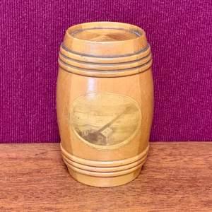 Mauchline Ware Small Wooden Barrel