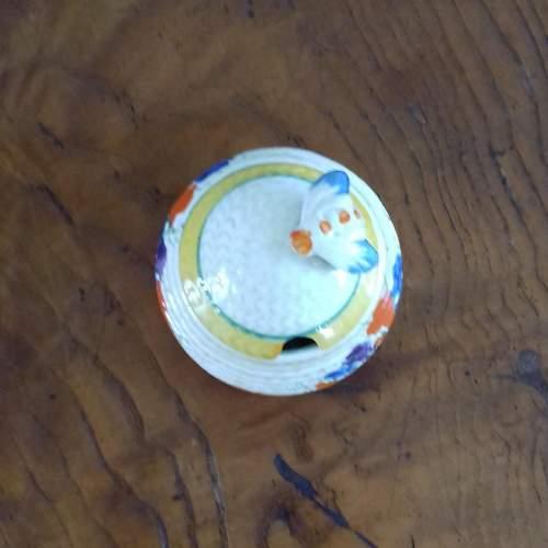 Clarice Cliff Bizarre Autumn Crocus Honey Pot image-2