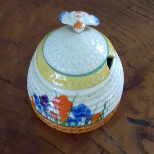 Clarice Cliff Bizarre Autumn Crocus Honey Pot image-3