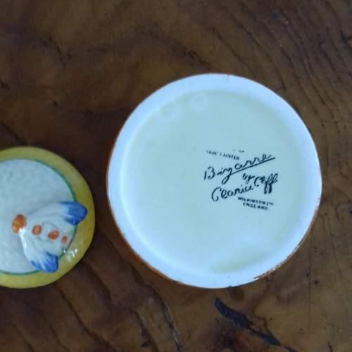 Clarice Cliff Bizarre Autumn Crocus Honey Pot image-4