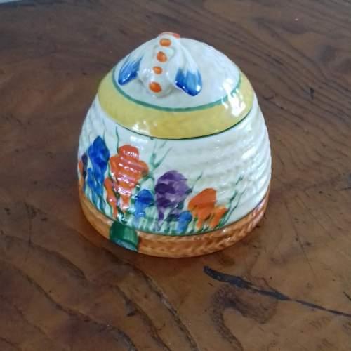 Clarice Cliff Bizarre Autumn Crocus Honey Pot image-1