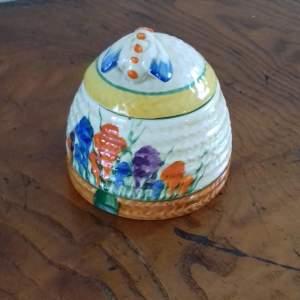 Clarice Cliff Bizarre Autumn Crocus Honey Pot
