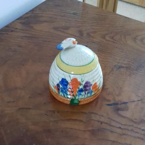 Clarice Cliff Bizarre Autumn Crocus Honey Pot image-6
