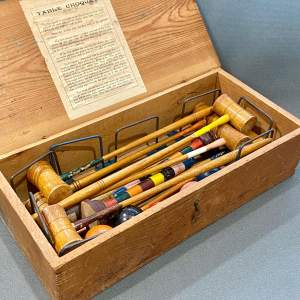 Vintage Table Croquet Set