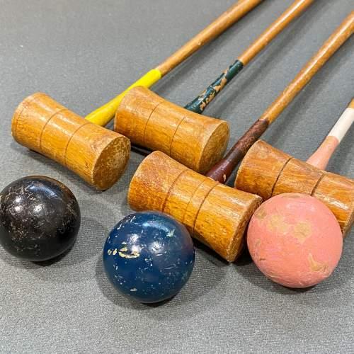 Vintage Table Croquet Set image-4
