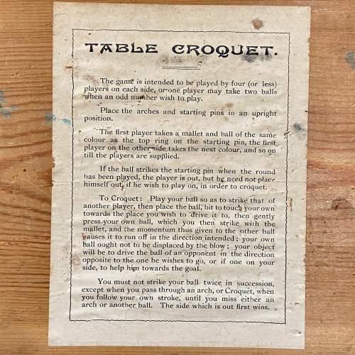 Vintage Table Croquet Set image-3
