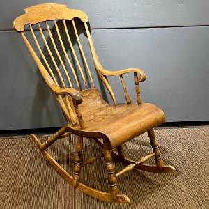 19th Century Swedish Unusual Six Leg Rocking Chair