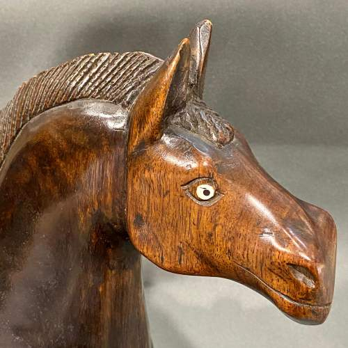 Circa 1900 Large Carved Wooden Horse image-2