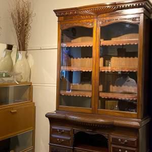 Large Victorian Mahogany Cupboard Bookcase