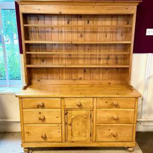 Victorian Pine Dresser with Plate Rack