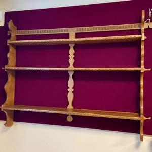 20th Century Oak Wall Shelf