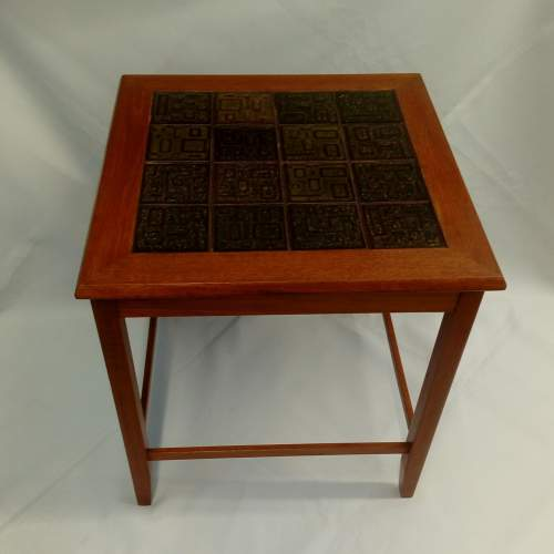 Danish Teak Tile-Top Coffee Table image-1