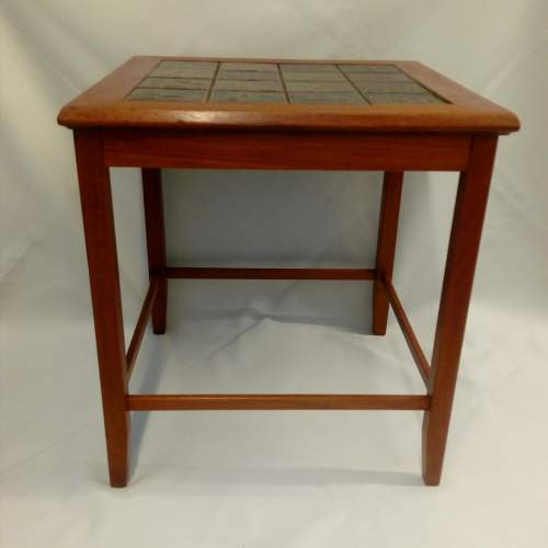 Danish Teak Tile-Top Coffee Table image-2