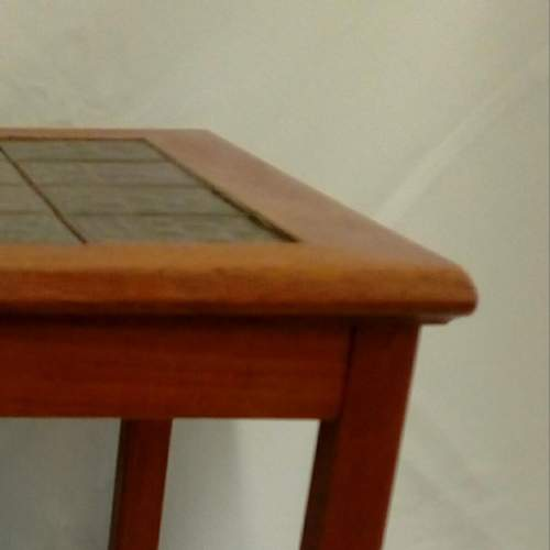 Danish Teak Tile-Top Coffee Table image-4