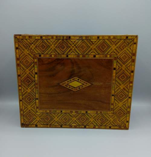 Victorian Walnut Tunbridgeware Inlaid Box image-2