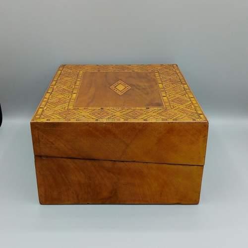Victorian Walnut Tunbridgeware Inlaid Box image-3