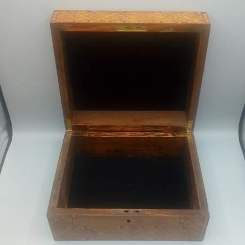 Victorian Walnut Tunbridgeware Inlaid Box image-6