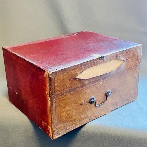 Set of Seven French Leather Fronted Filing Boxes image-3