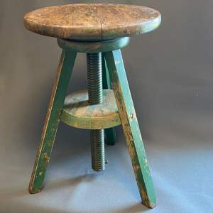 Vintage Painted Pine Sculptors Stand