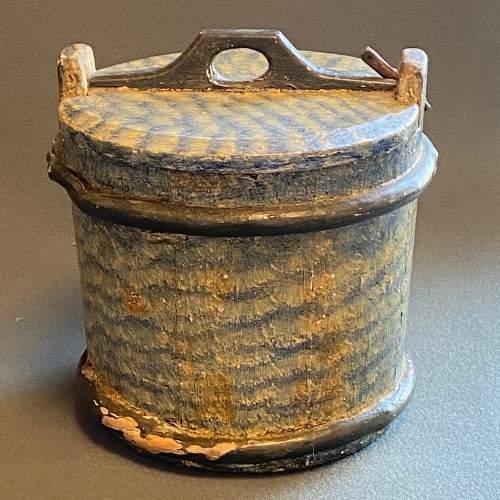19th Century Swedish Decorated Pine Cheese Barrel image-2