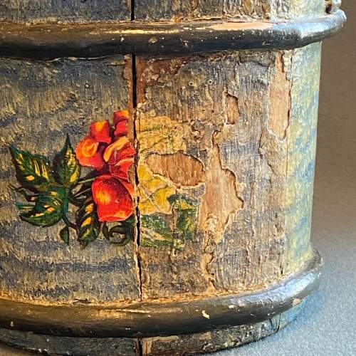 19th Century Swedish Decorated Pine Cheese Barrel image-3