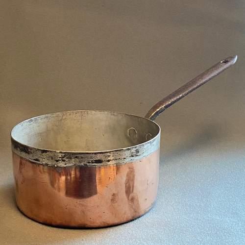 Victorian Heavy Copper Sauce Pan image-1