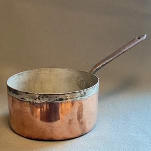 Victorian Heavy Copper Sauce Pan