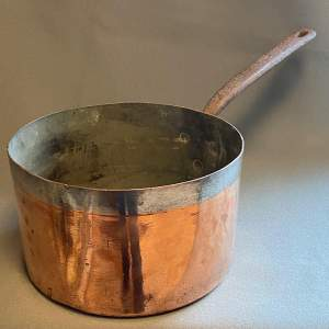 Victorian Large Heavy Copper Sauce Pan