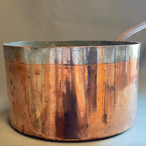 Victorian Large Heavy Copper Sauce Pan image-2