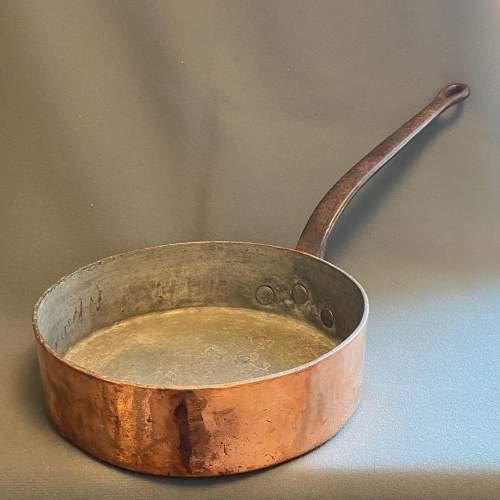 LNER Large Heavy Antique Copper Sauté Frying Pan image-1